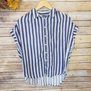 Madewell Striped Buttton Down Shirt Size M